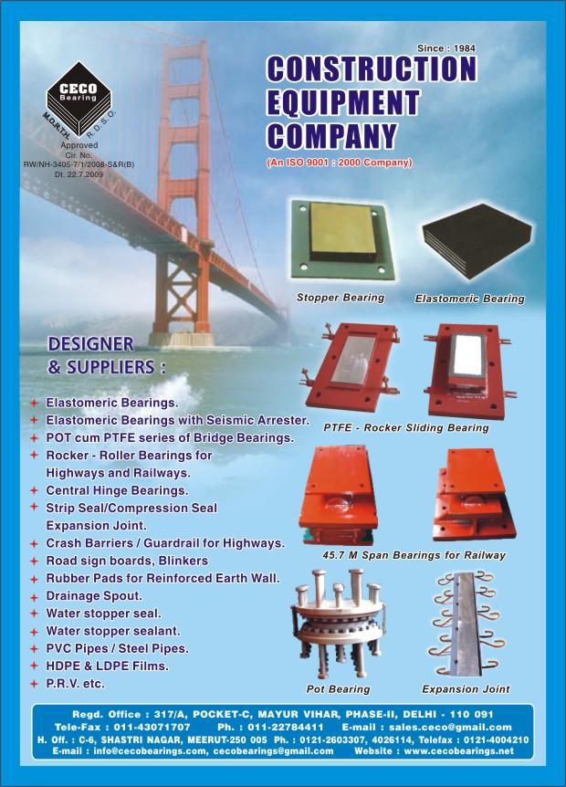 Pot cum ptfe bridge bearings manufacturer in delhi